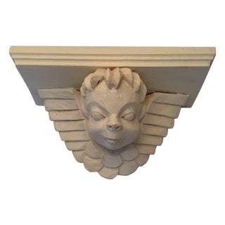 Hand-Carved Cherub Shelf