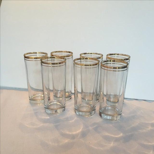 Gold Trimmed Glasses - Set of 7 - Image 3 of 10