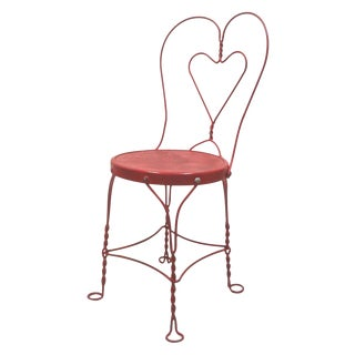 Red Iron Ice Cream Cafe Chair