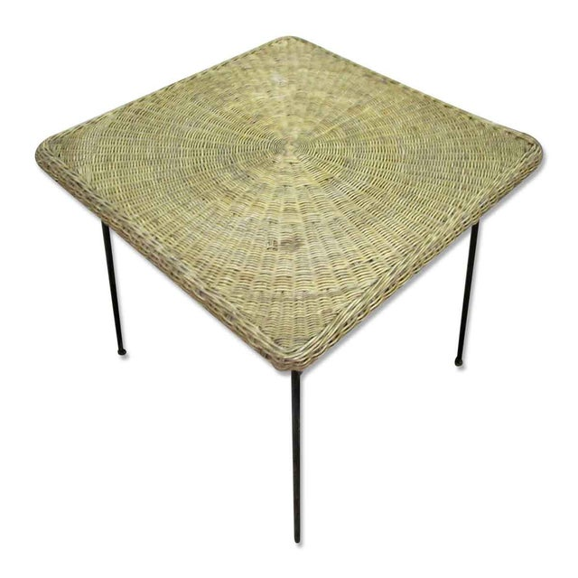Antique Wicker Desk With Metal Legs - Image 4 of 8 - Antique Wicker Desk With Metal Legs Chairish