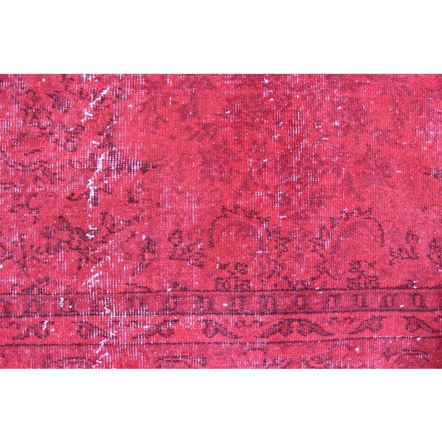 Image of Red Overdyed Vintage Turkish Rug - 7′ × 10′10″