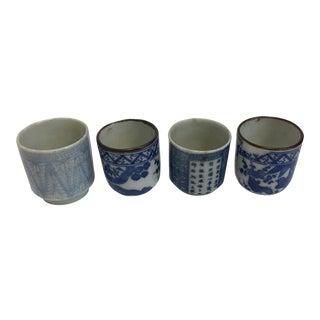 Japanese Porcelain Sake Cups - Set of 4