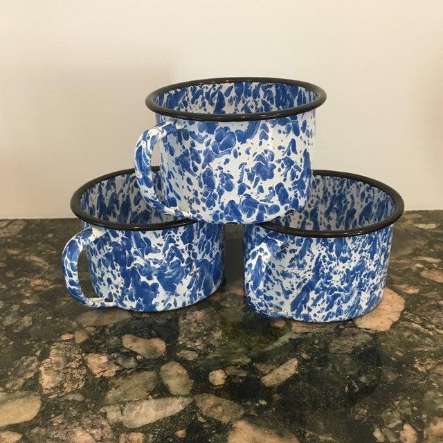 Enamel Spatterware Mugs - Set of 3 - Image 2 of 10