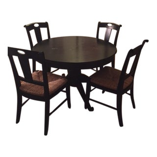 Crate & Barrel Extendable Wood 5-Piece Dining Set