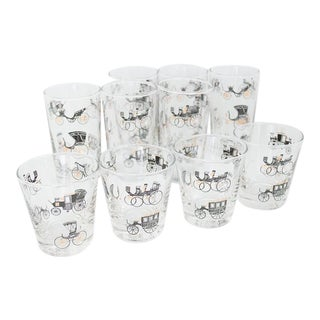Libbey Curio/Carriage & Buggy Highball & Rocks Glasses - Set of 10