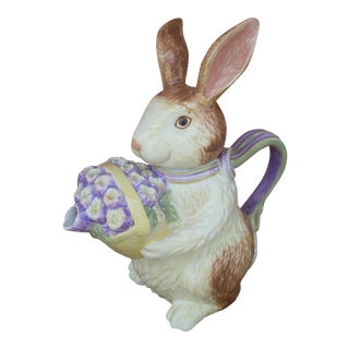 Longaberger Rabbit Tea Pot