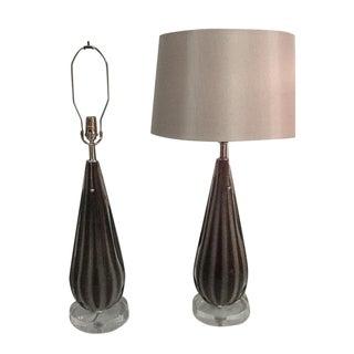 Alfredo Barbini Murano Table Lamps - A Pair