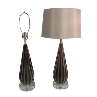 Alfredo Barbini Murano Table Lamps - A Pair