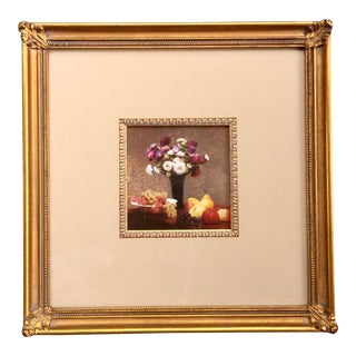 Framed & Matted Still Life Floral Print