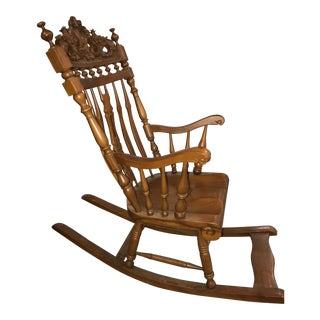 Victorian Style Carved Rocking Chair