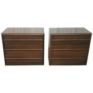 Robsjohn-Gibbings Widdicomb Walnut Dressers - Pair