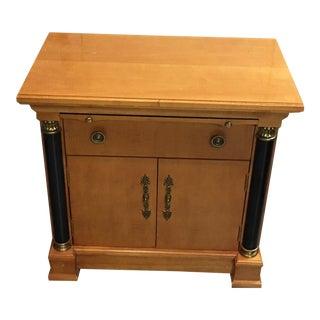 Thomasville Maple & Black Side Table