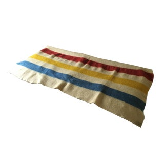 Vintage Striped Hudson Bay Wool Camp Blanket