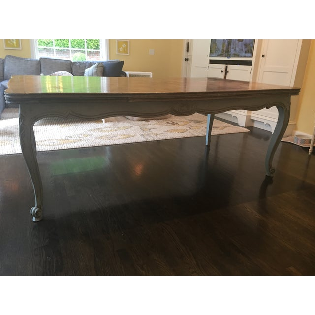 French Country Parquetry Top Dining Table - Image 2 of 6