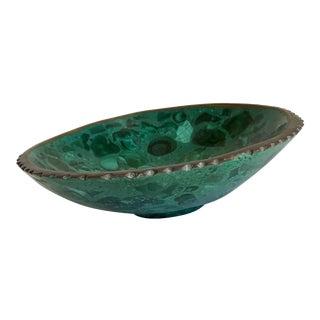 Vintage Green Malachite Ring Tray