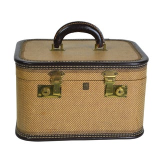 Vintage Tweed Train Case