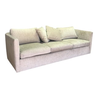 Beige Curved Back Sofa