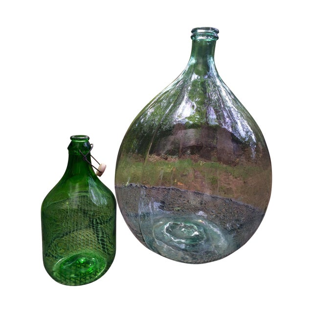 Vintage Italian Demijohn, Personalized Set - Image 1 of 8
