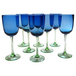 Blue & Green Goblets - Set of 8