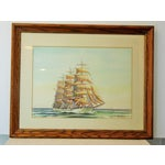 Image of Tall Ship Watercolor by Paul C. Morris