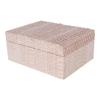 Modernist Lavender Python Snakeskin Box with Lid