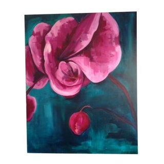 Orchid Oil Painting by Kathryn Trotter