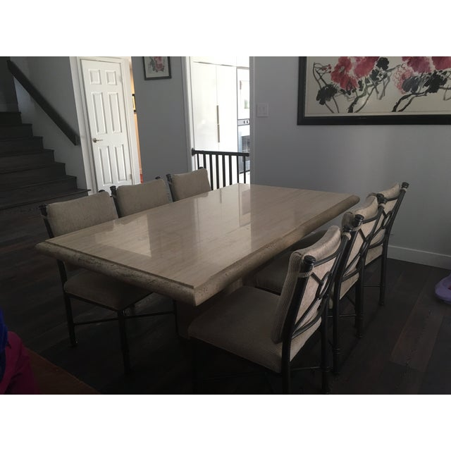 Italian Travertine Dining Room Set - Image 5 of 7