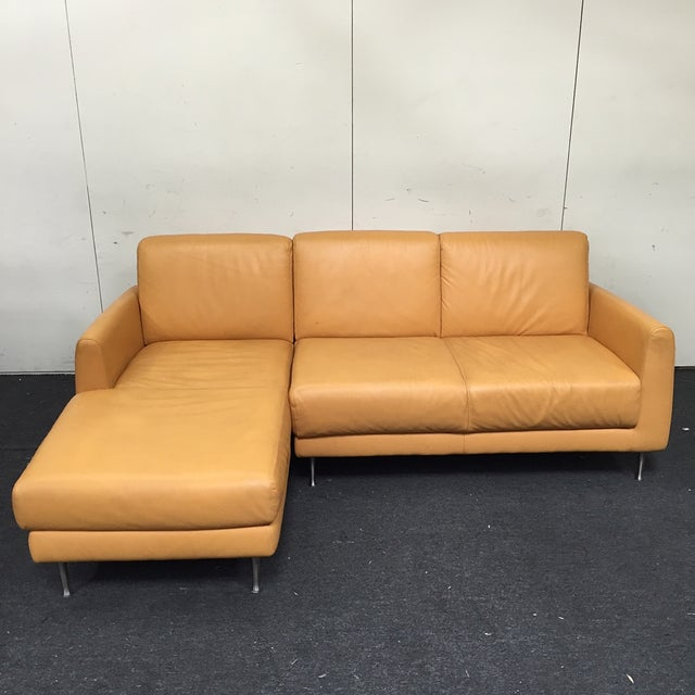 Image of Contemporary Orange Sectional