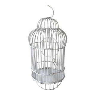 Mid-Century White Bird Cage
