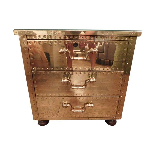 Serreid LTD Vintage Brass Nightstand - Image 1 of 11