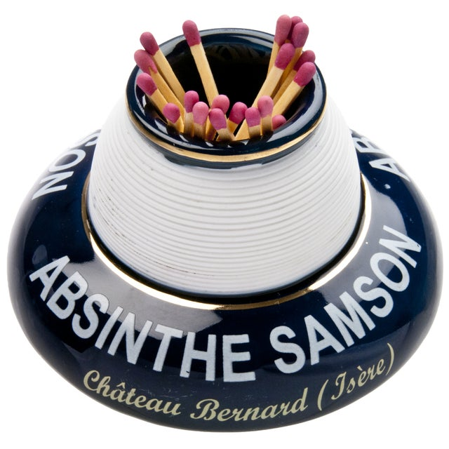 Porcelain Samson Absinthe Match Striker - Image 1 of 4