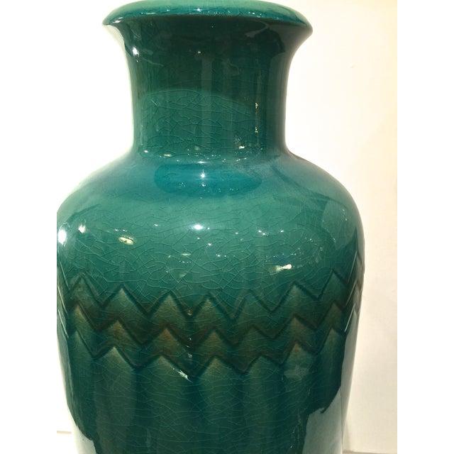 Image of Large Turquoise Ceramic Vase
