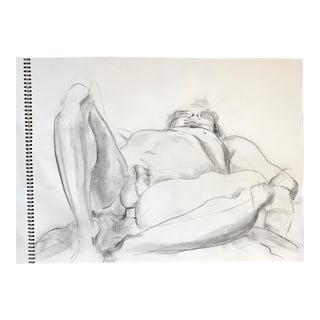 Foreshortened Male Nude Drawing