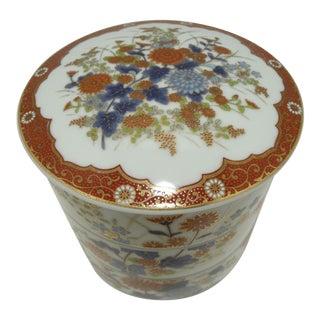 Vintage Japan Imari Porcelain Stacking Bowls - Blue & White & Rust