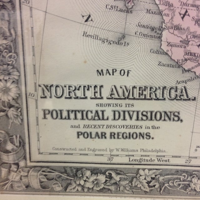 Image of Antique Map of North America (1860)