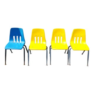 Virco Los Angeles Stacking Chairs - Set of 4