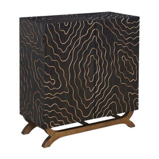 Topographical Black & Gold Cabinet
