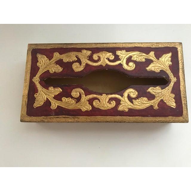 Vintage Italian Florentine Tissue Box - Image 2 of 5