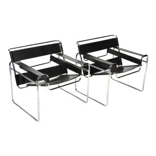 Marcel Breuer Pair of Early Wassily Chairs by Knoll