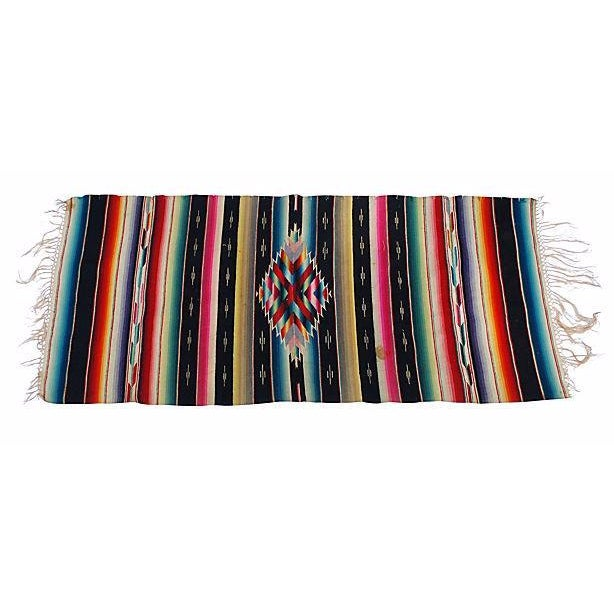 Vintage Southwest Chimayo Rug Weavin - 1′5″ × 3′3″ - Image 1 of 2