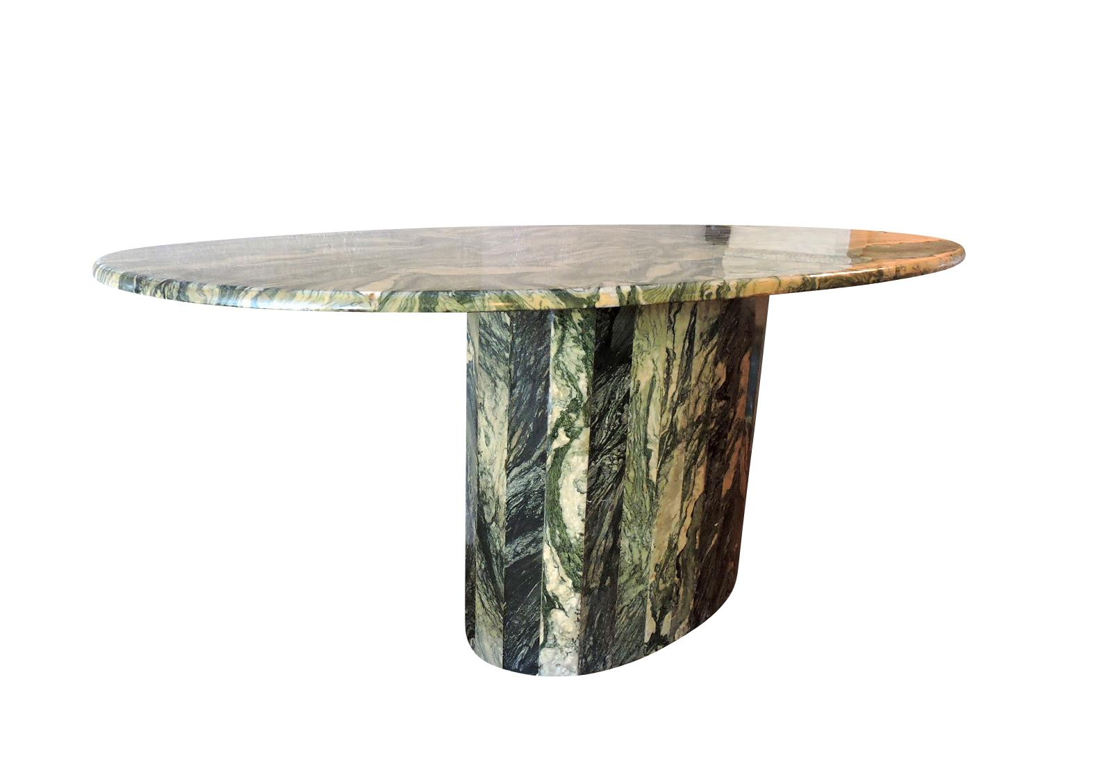 Maurice Villency Oval Marble Dining Table   Image 3 Of 6