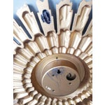 Image of Gold Tone Syroco Sunburst Wall Clock