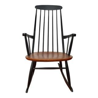 Danish Modern Style Rocking Chair With aTeak Seat