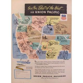 1920s Original Union Pacific Railroad Advertisement