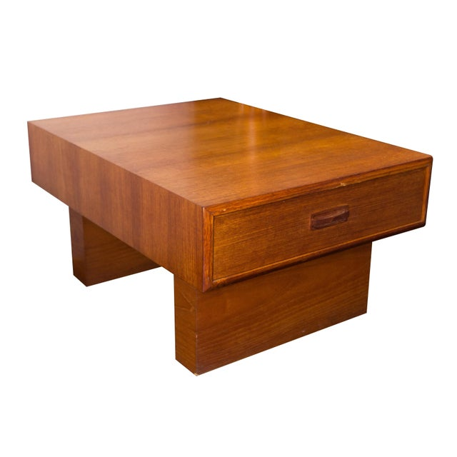 Vintage Teak Coffee Tables: Vintage Danish Teak Single Drawer Coffee Table