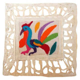 Multi-Colored Bird Otomi Embroidered Folk Art