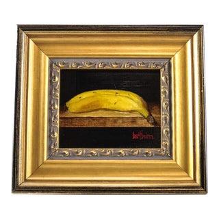 "Bert Beirne ""Banana"" Signed Oil on Panel Painting"