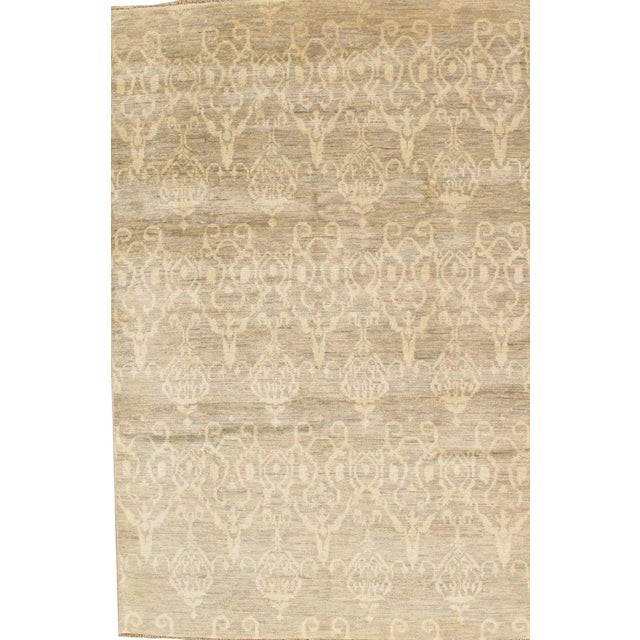 Pasargad Ikat Transitional Wool Area Rug- 6'x9' - Image 1 of 2