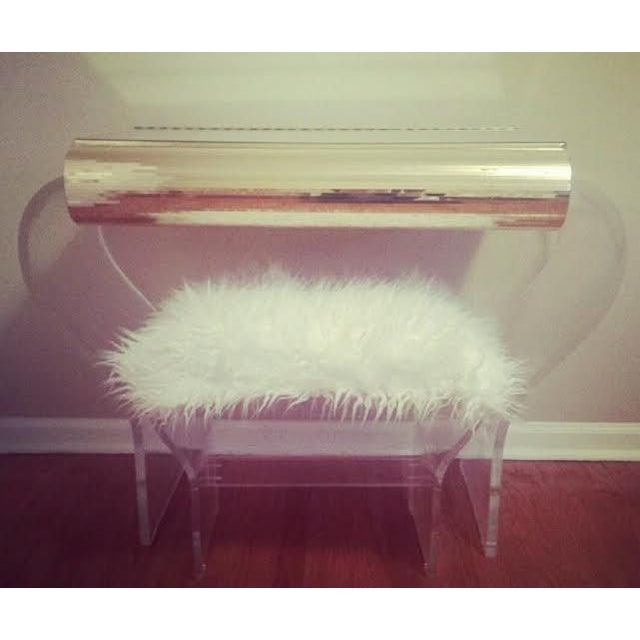 Image of Lucite Vanity & Matching Bench