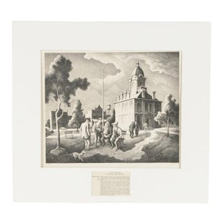 1973 Thomas Hart Benton County Politics Lithograph on Paper